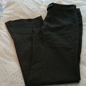 Menswear stripe poly blend trousers